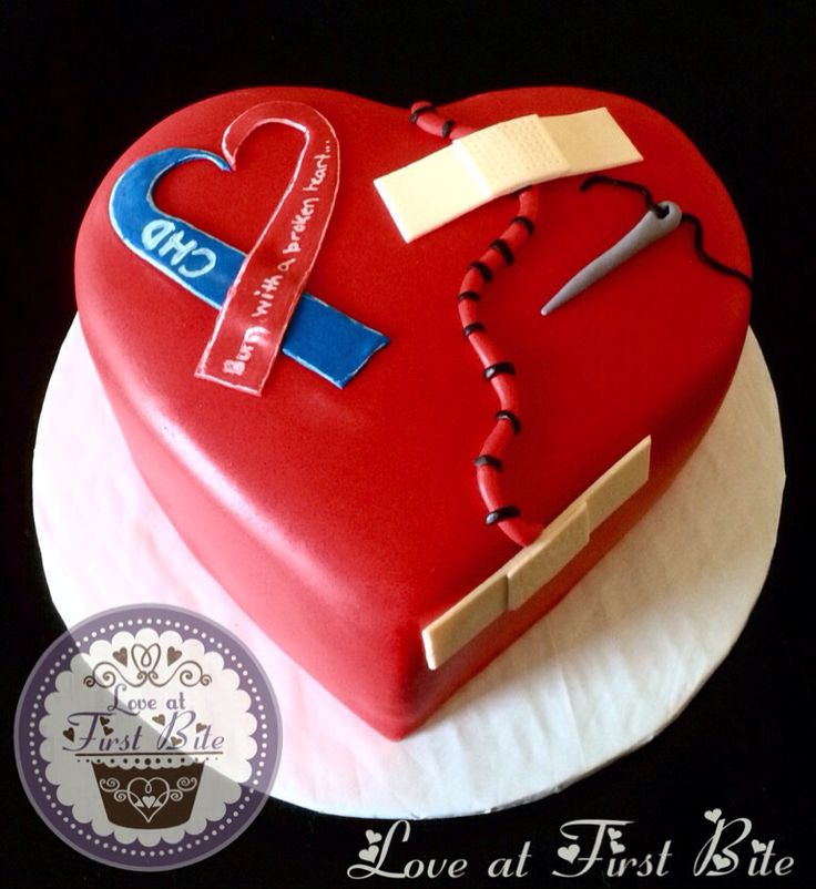 Chd Awareness Cake Special Occasion Cakes Pinterest