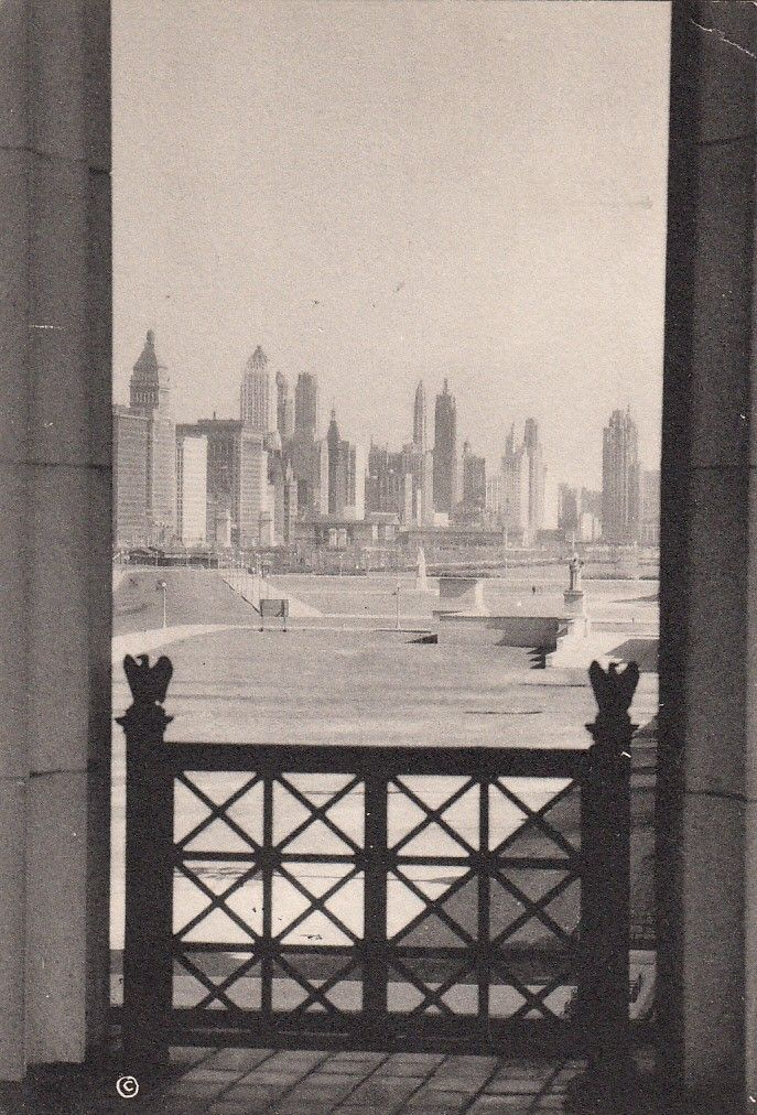 Looking north from Soldier Field, 1935, uncredited