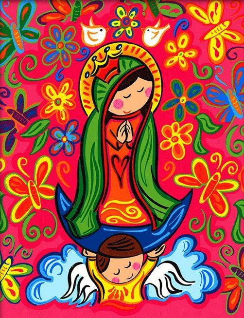 ... animados on Pinterest | Virgen de guadalupe, Del carmen and Dibujo