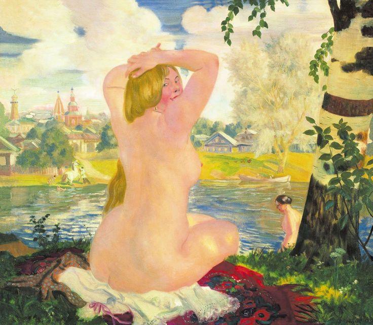 Вчера был день рождения Кустодиева: lilac2012. Государственный Русский музей, С.-Петербург.  Купальщица, 1921