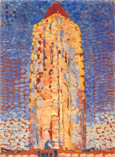 Lighthouse in Westkapelle - Piet Mondrian, 1909