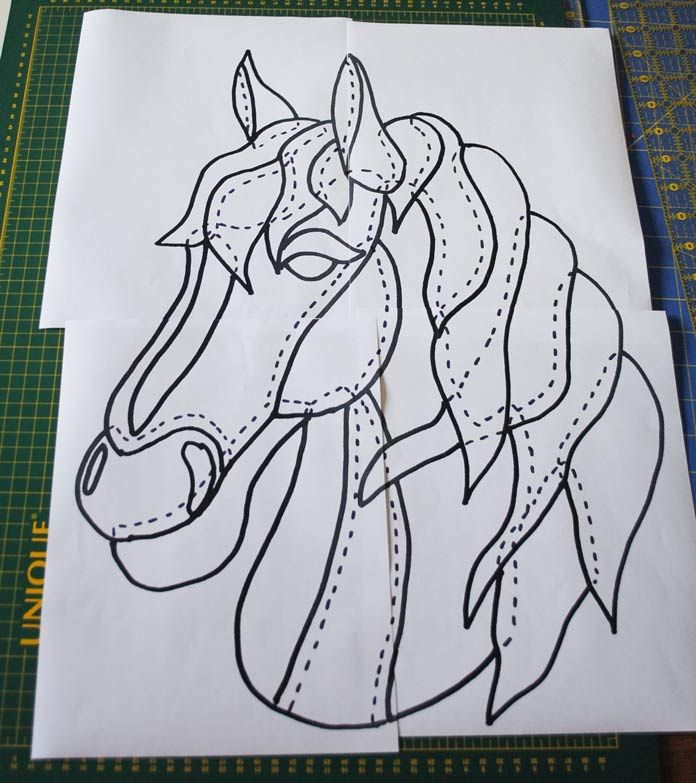 How To Create Your Own Fusible Applique Pattern From A Drawing Horse Quilt Applique Pattern Elephant Applique
