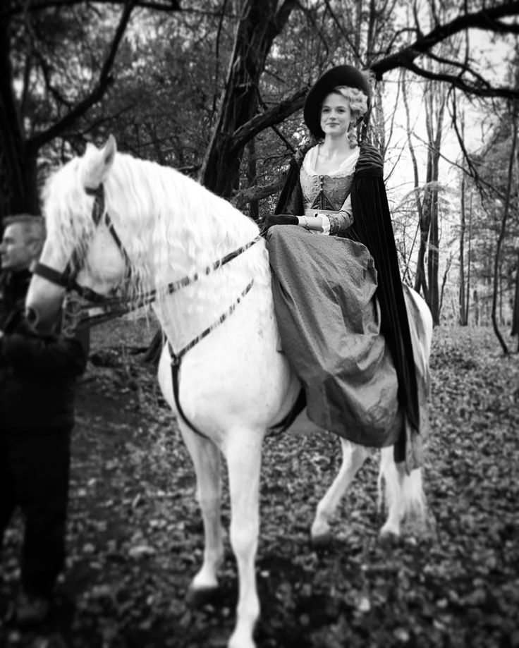 """Gabriella Wilde on Instagram: """"#poldark3 #carolinepenvenen #sidesaddle"""""""