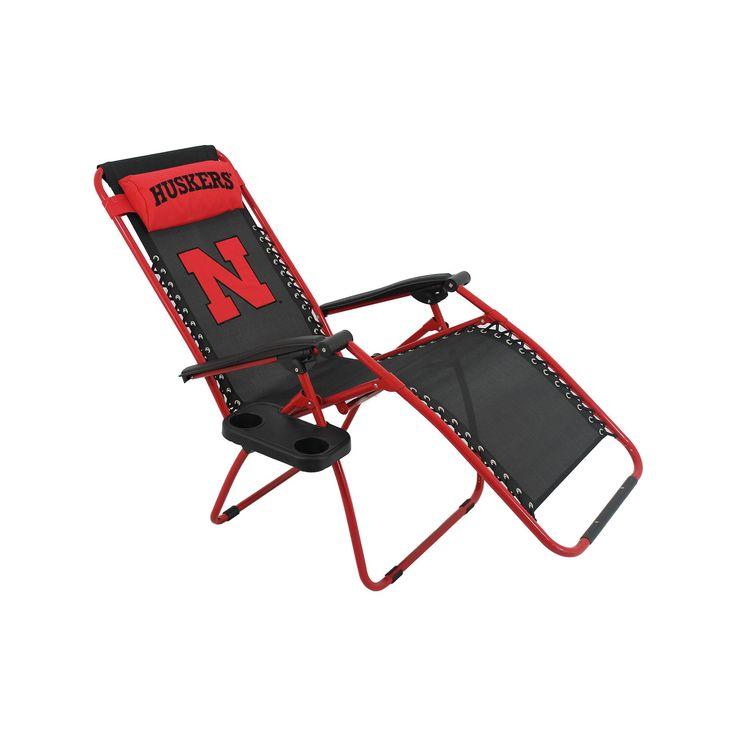 Outdoor College Covers Nebraska Cornhuskers Zero Gravity Chair, Multicolor