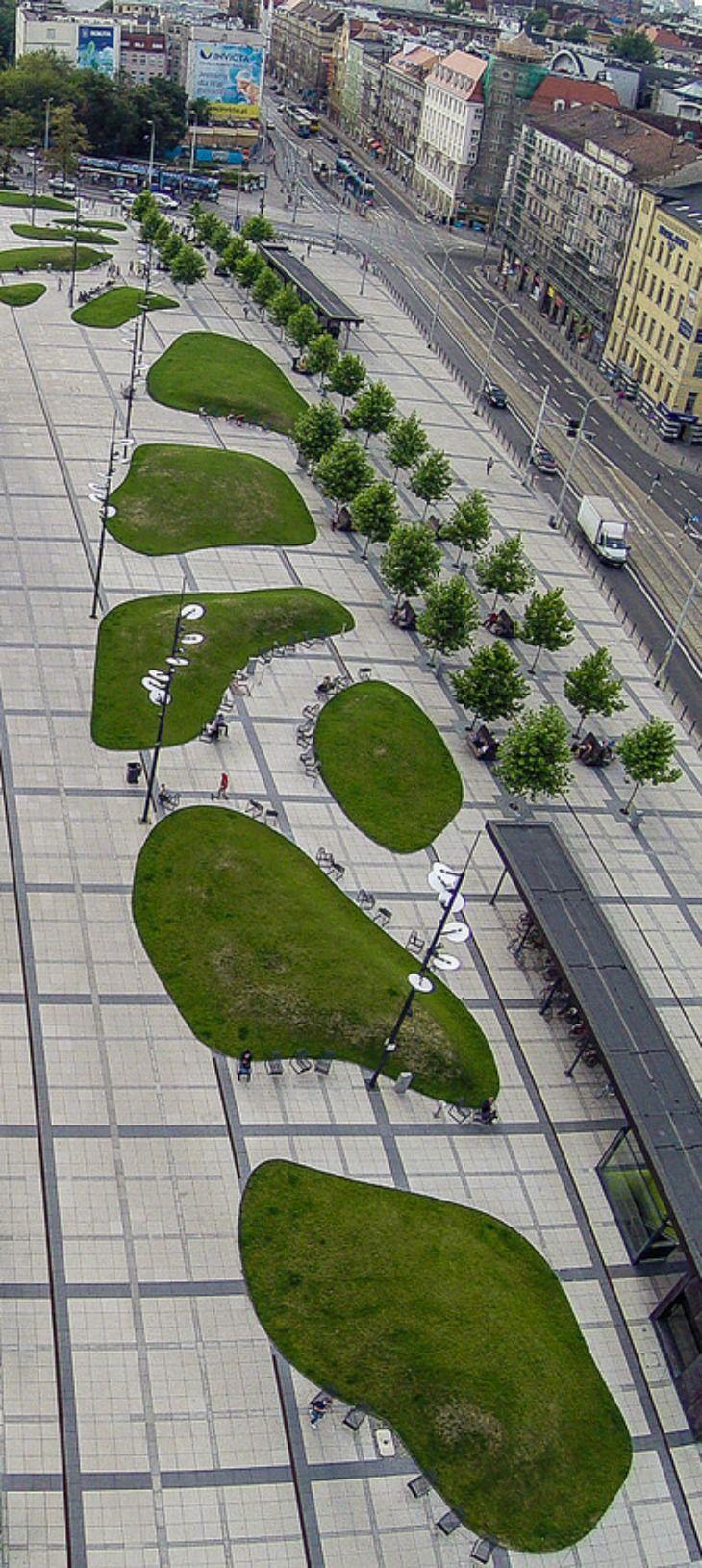 Landscaping Outside Wrocław Główny - Wroclaw Main Railway Station - Hauptbahnhof Breslau, Wroclaw, Poland