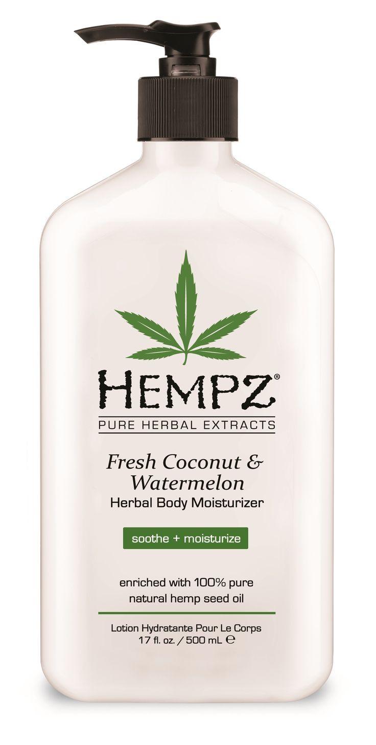 Hempz Coconut & Watermelon Moisturizer. This is some good stuff! Smells like beach heaven :)