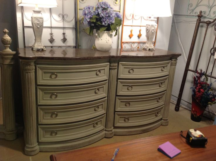 Done On Paint Couture Peace...marble Top Buffet Or Dresser