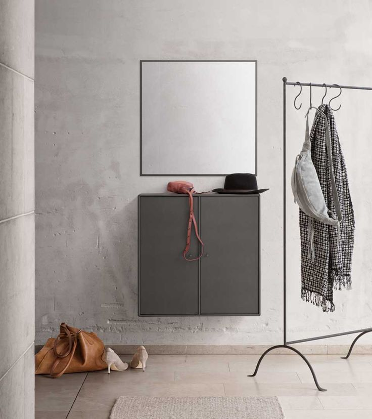 WELCOME   Cabinet And Mirror For The Entrance From Montana Collection In  The Colour Coal