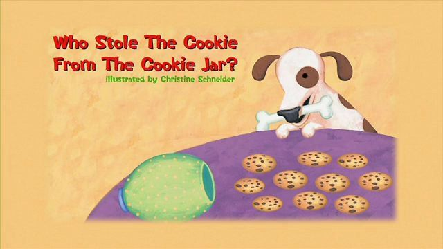 Who took the Cookie from the cookie jar? book