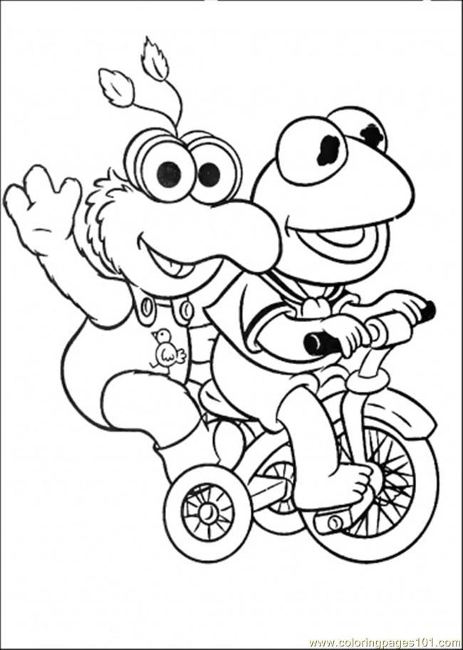 Coloring Pages Elmo And His Friend Is Riding A Bicycle Cartoons Baby Coloring Pages Disney Coloring Pages Coloring Books