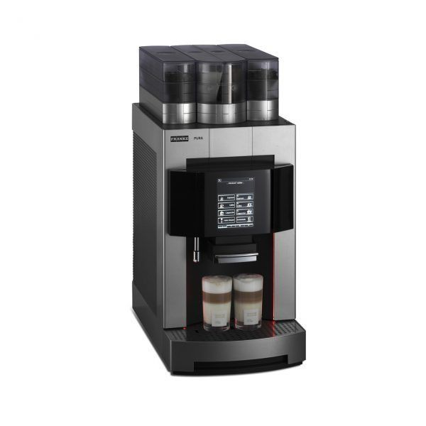 The FRANKE Pura espresso coffee machine is the perfect choice for a professional grade all-in-one coffee making solution. Delivering up to 150= cups a day it's ideal for any busy office, workplace, or staff canteen.    #Coffee4Business #OfficeCoffee #CoffeeMachine #Coffee   #CorporateCoffee #CorporateCoffeeSolutions