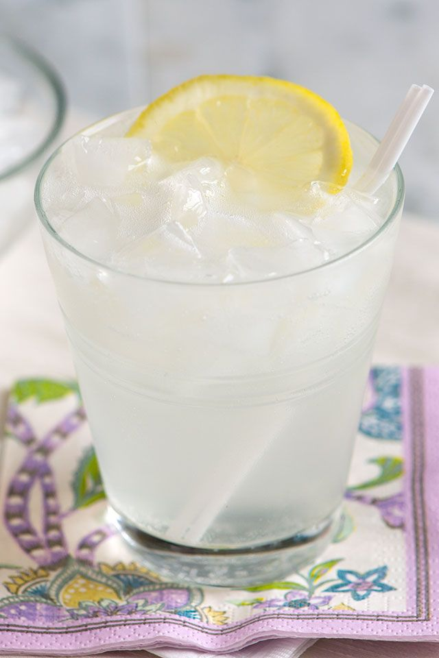 Classic Gin Fizz Cocktail  Ingredients 4 tablespoons (2 oz) gin 1 tablespoon (1/2 oz) lemon juice 1 teaspoon powdered sugar 3-4 oz club soda lemon slice