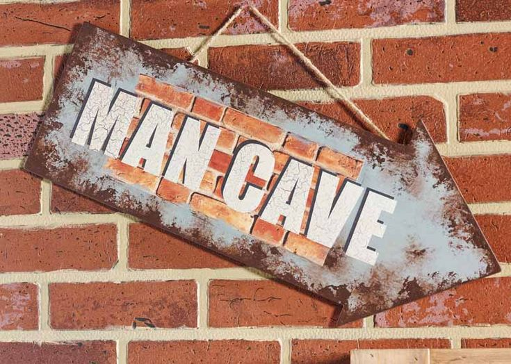 Use Decoupage  Furniture mod podge to DIY a Handmade Man Cave Sign as a fun decorative gift for your man.