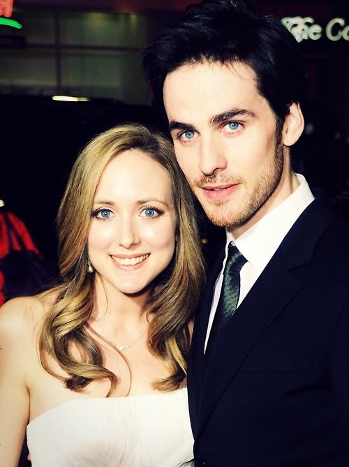 I may ship captain swan but i hsip these two 300x more!!! colin o'donoghue helen o'donoghue - they are soo cute together