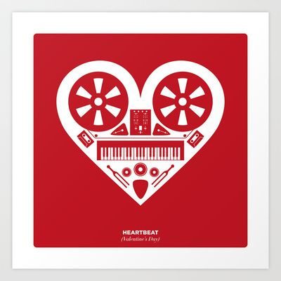 Heartbeat (Valentines Day) Art Print by Paul Chin ★ Culturecraft