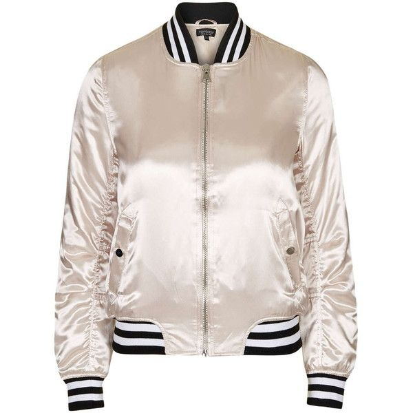 TopShop Sateen ma1 Bomber Jacket ($79) ❤ liked on Polyvore featuring  outerwear, jackets