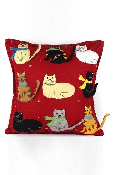 New World Arts Nine Cats Accent Pillow available at #Nordstrom