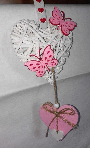 Varie - fiocco nascita cuore rosa - un prodotto unico di bandullera su DaWanda