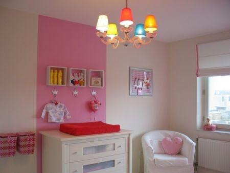 Roze babykamer 1  Kinderkamer  Pinterest