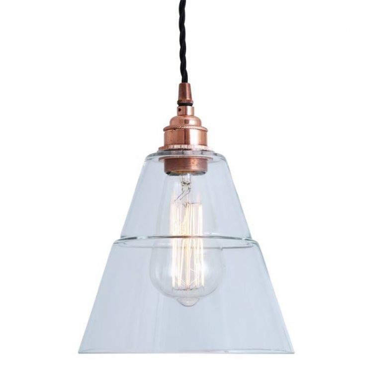 Lyx clear glass pendant light is designed and manufactured in Ireland.