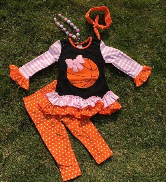 Basketball Ruffle outfit 4PC