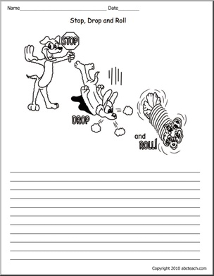 Fire Safety Worksheets _ Stop, Drop and Roll.Stop Drop And Roll Lesson, Fire Safety, Safety Worksheets, Rolls Primary, Education