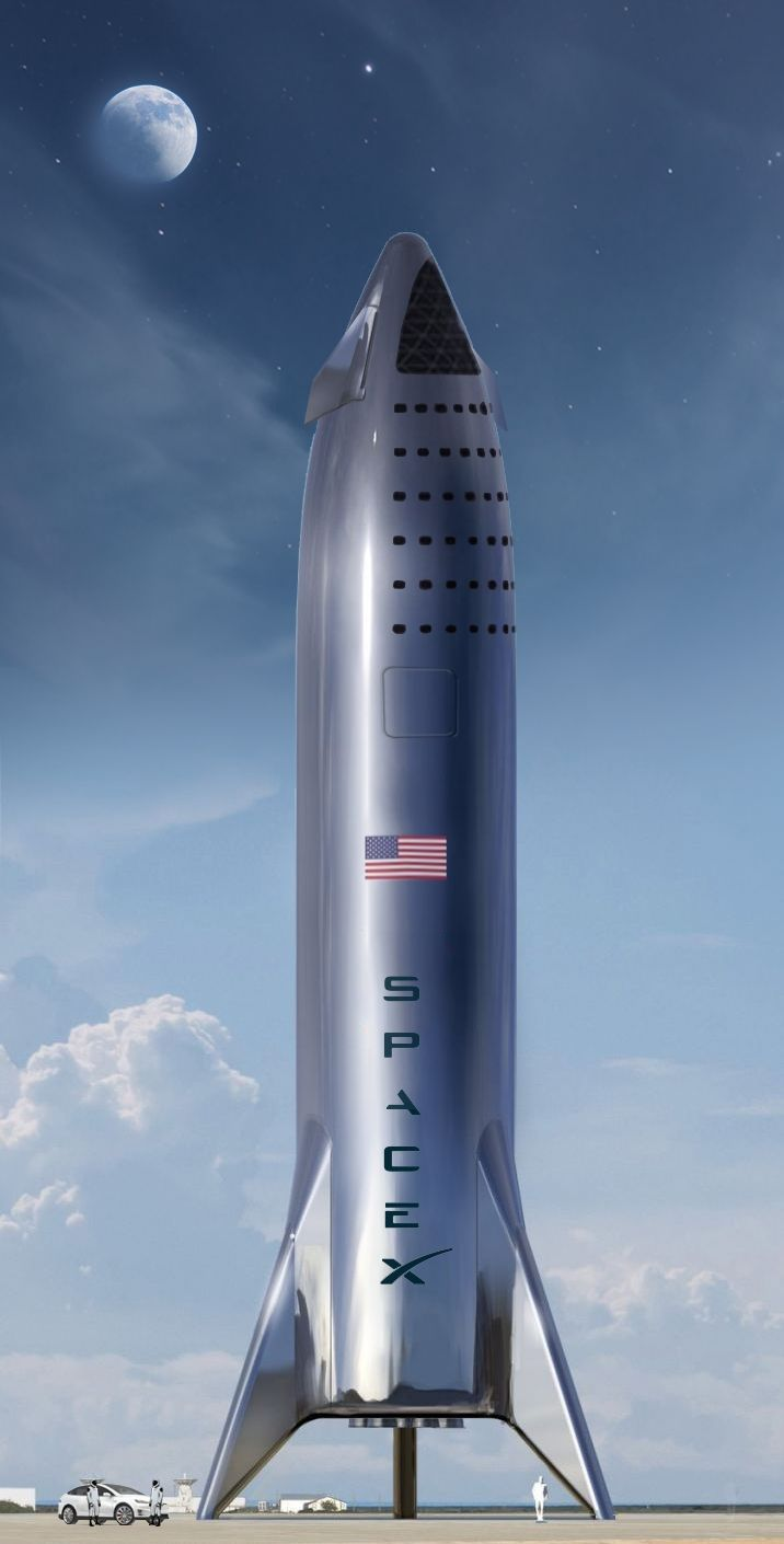 Full Scale Spacex Prototype Stainless Steel Starship Spacex Space Exploration Technologies Spacex Starship