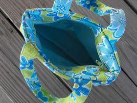 darling petunia: Zippity Doo Dah How to put zipper in a bag
