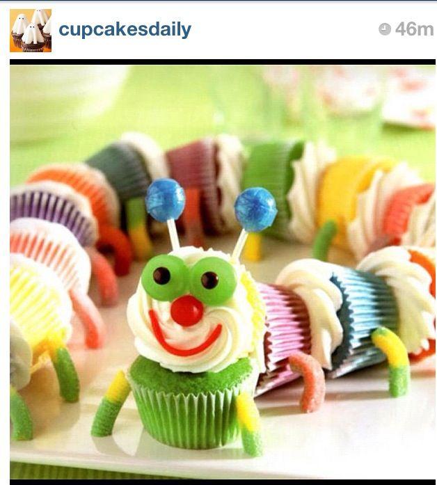Catepillar cupcakes