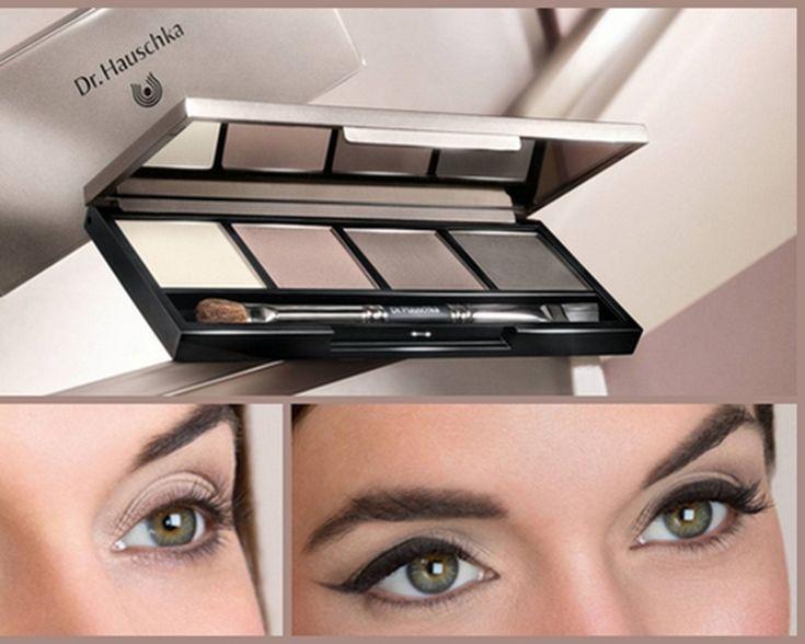 Soms kun je de uitdrukking van je ogen een handje helpen door je ogen te accentueren. Bijvoorbeeld met dit eyeshadow palet van Dr. Hauschka.