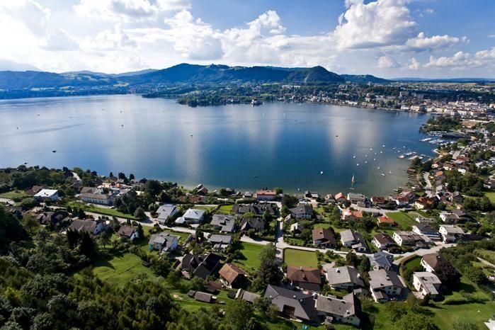 Traunsee Mountain Lake in Gmunden, Austria
