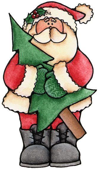 santa and tree. I'm thinking flux fur beard & cuffs/trim on coat, hat tip/brim.