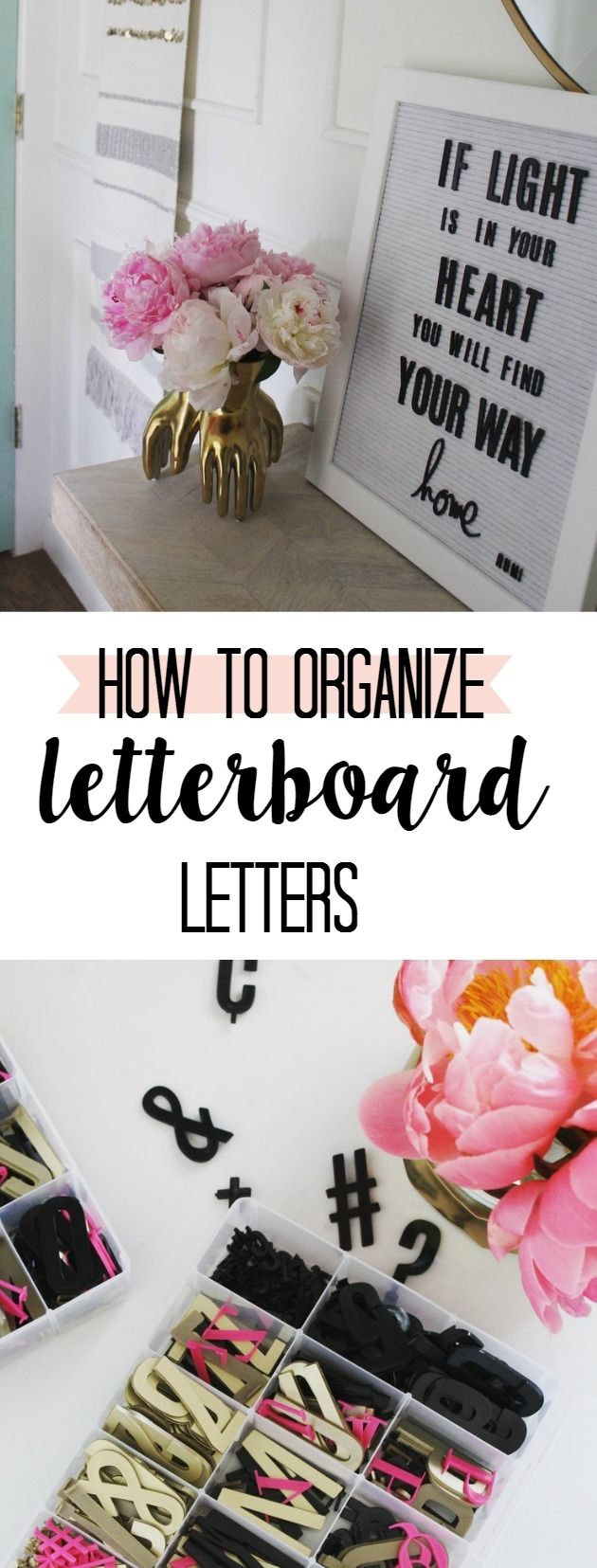 How to Organize Letterboard Letters from my @heidiswapp board