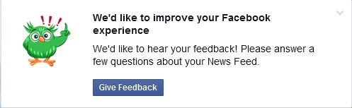 We'd like to improve your Facebook experience.