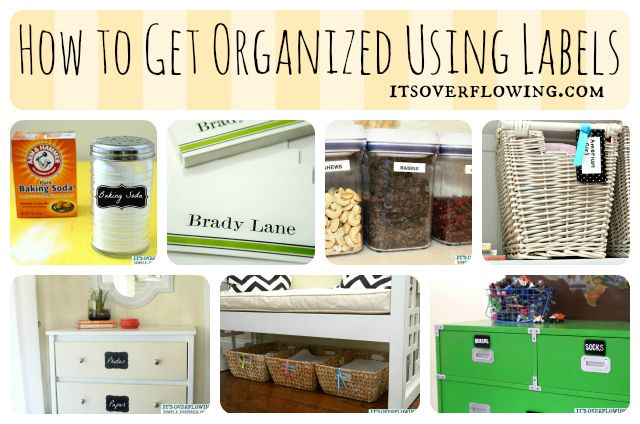How to Get Organized Using Labels @ItsOverflowing.com