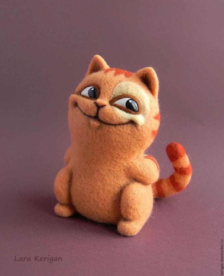 Купить Улыбака Персик - рыжий, персик, персиковый, котик, кот, шкодный, смайлик, стикер