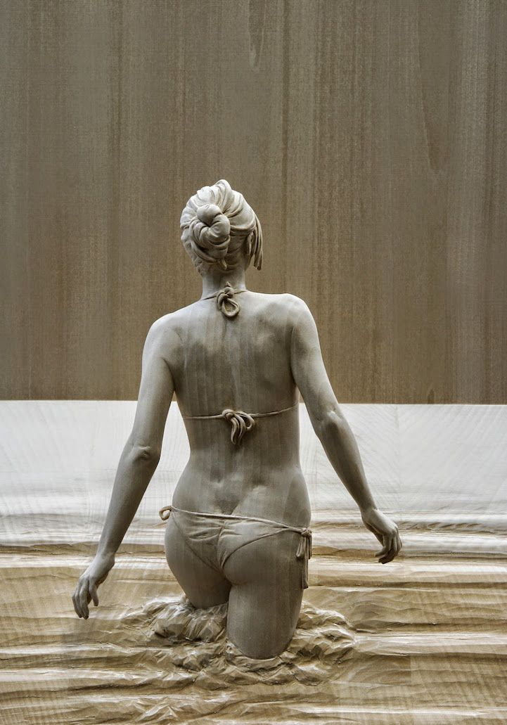 Stunningly life-like figures hand carved from wood by Peter Demetz.