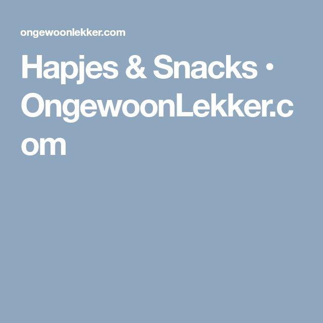 Hapjes & Snacks • OngewoonLekker.com
