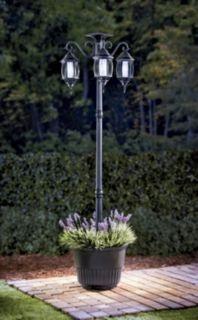 Madison Solar Lamp Post Amp Planter Gardening Pinterest