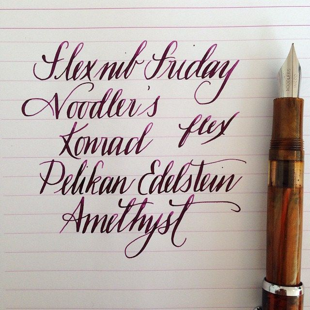 Noodler S Flex Pens Ahab Konrad Singapore The Affordable Flex