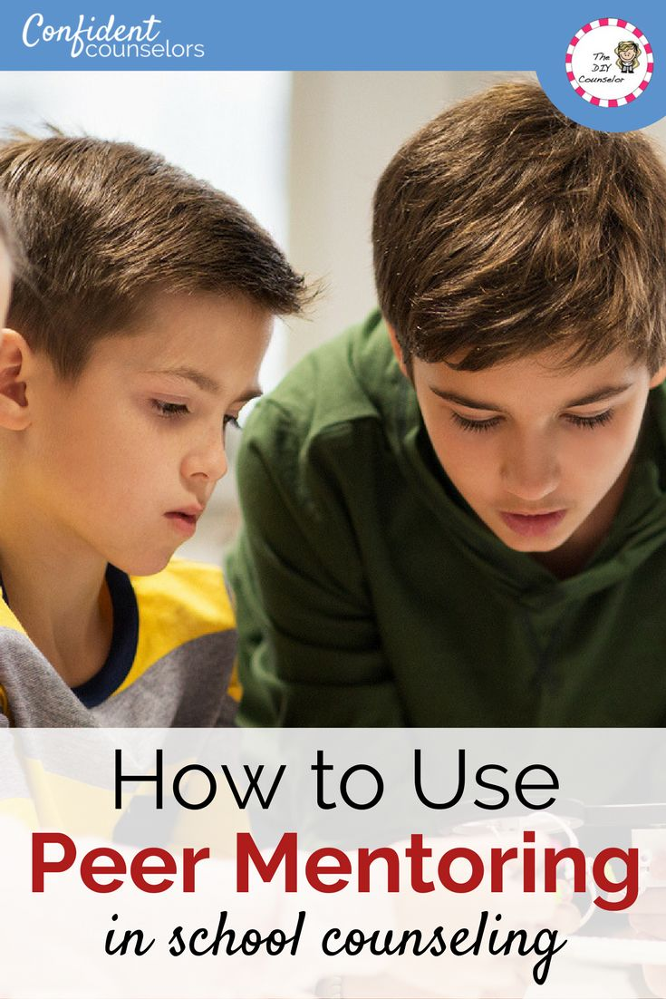 How to Use Peer Mentoring in School Counseling. Consider your school's needs, how to train mentors, activities, and what you currently do.  https://confidentcounselors.com/2018/01/24/peer-mentoring/?utm_campaign=coschedule&utm_source=pinterest&utm_medium=Confident%20Counselors&utm_content=How%20to%20Use%20Peer%20Mentoring%20in%20School%20Counseling