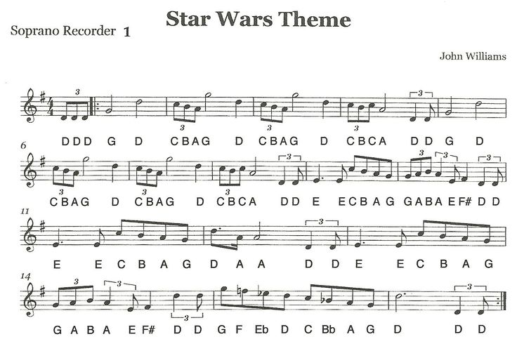 "Recorder Ensemble - ""Star Wars"" First Recorder Part 1 (extensive video on clickthrough; second video for part 1 is here: http://thirdstreetmusic.blogspot.com/2012/04/recorder-ensemble-star-wars-first_23.html) 
