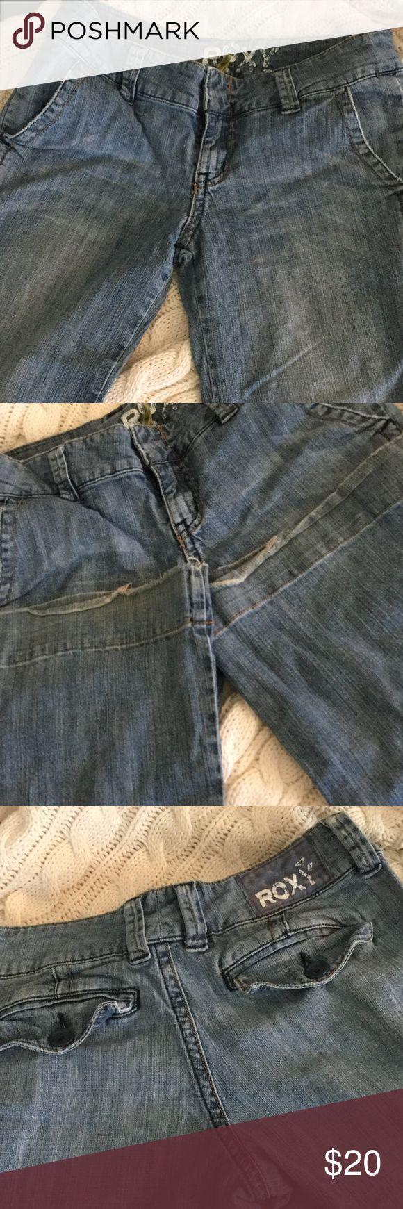 Roxy women's wide-legged trouser jeans Excellent condition, flap pockets Roxy Jeans Flare & Wide Leg