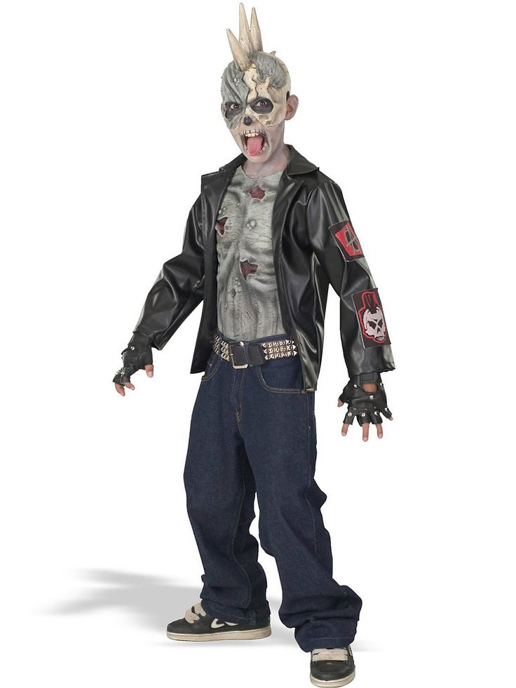 punk zombie child costume - Scary Halloween Costumes For Children