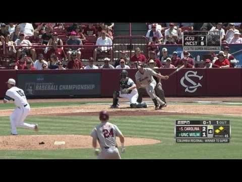 Gamecocks Score 5 Runs in 4th vs. UNCW — 6/7/16 - YouTube