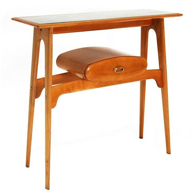Tufted Sofa Console Table by Ignazio Gardella Italy s