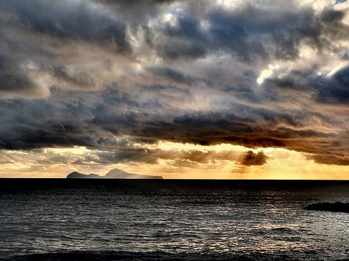 Raggi di sole su Capri