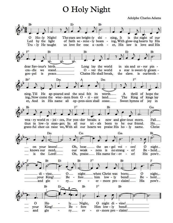 Free Sheet Music - Free Lead Sheet - O Holy Night