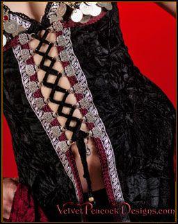 Ghawazee Coat - Tribal Fusion Bellydance - Coin Bras, Tassel Belts & Fringe Belts - Tribal BellyDance costumes, Gypsy BellyDance Costumes, G...
