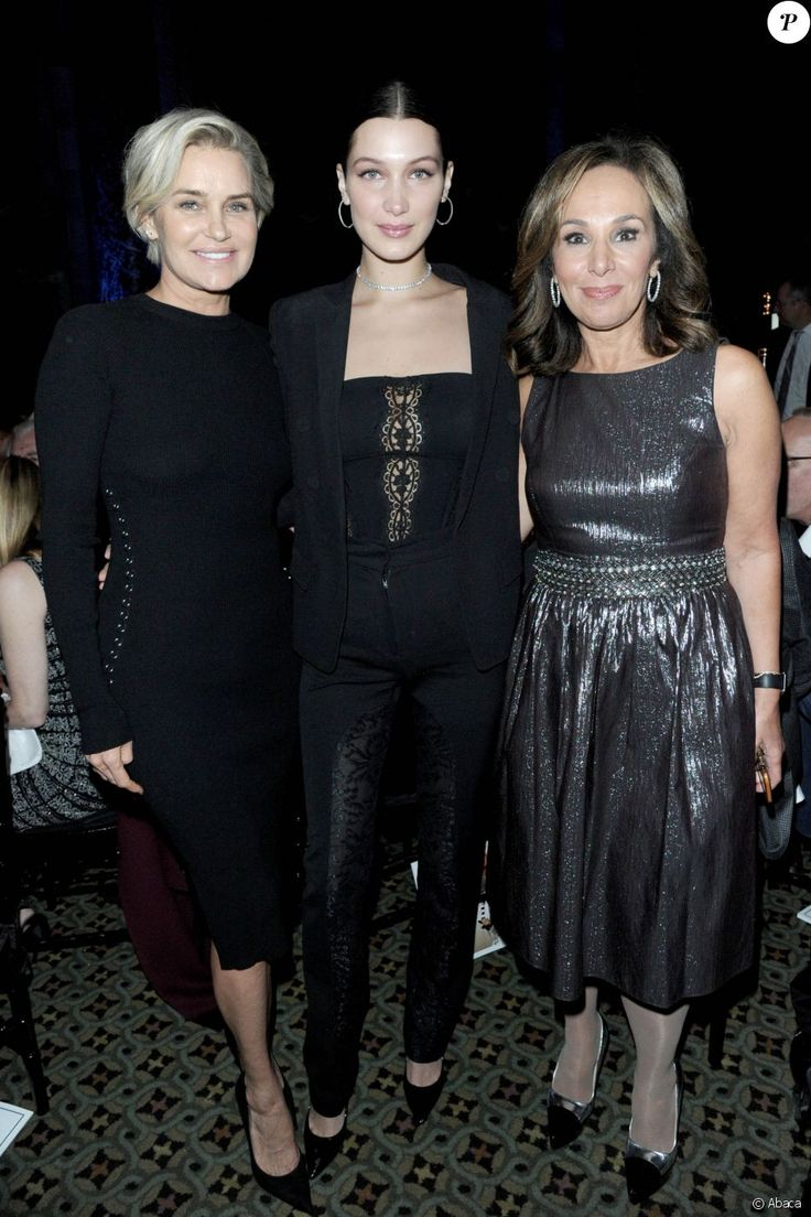 "Yolanda Foster, Bella Hadid, Rosanna Scotto au gala pour la soirée ""Uniting for a Lyme-Free World"" à New York City, New York, Etats-Unis, le 13 octobre 2016"